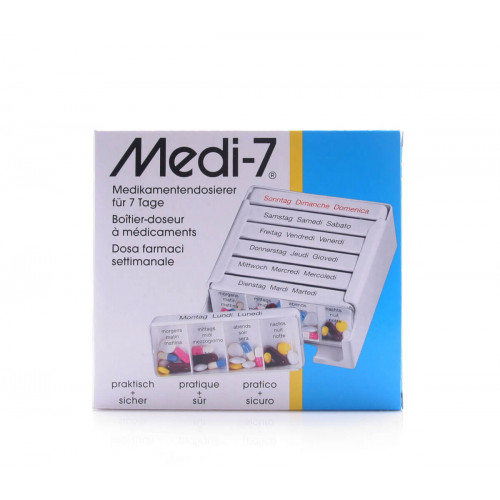 MEDI-7 Medikamentendosierer 7 Tage D/F/I weiss