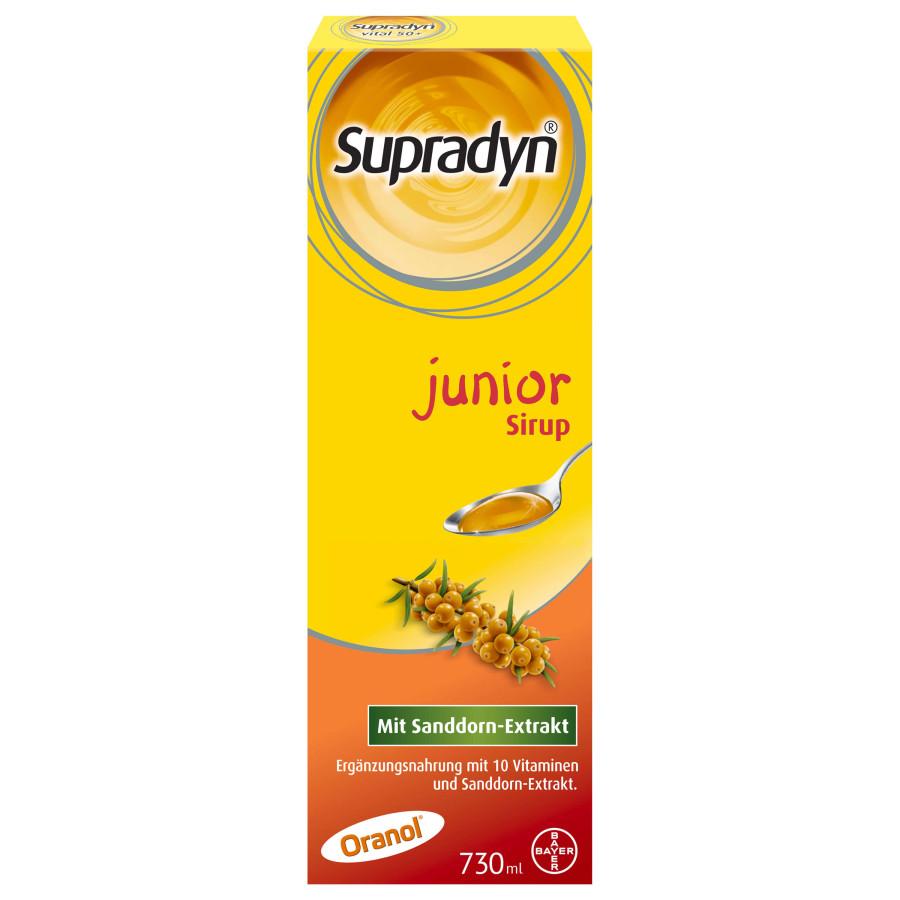 Hier sehen Sie den Artikel SUPRADYN junior Sirup 730 ml aus der Kategorie Kurmittel/Nahrungsergänzung. Dieser Artikel ist erhältlich bei apothekedrogerie.ch