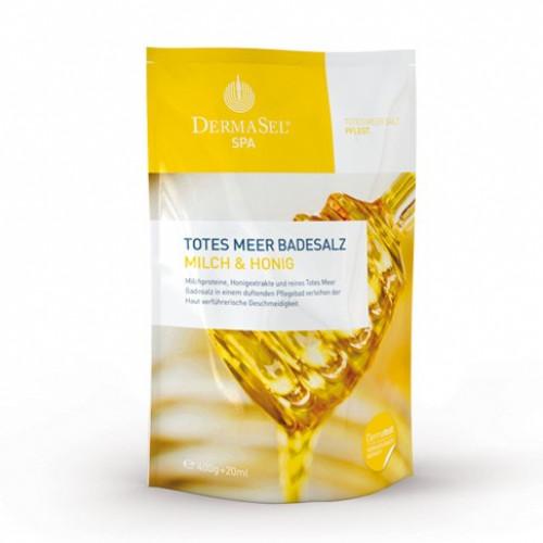 DERMASEL Badesalz Milch&Honig D/F/I Btl 400 g