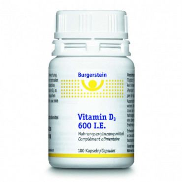 BURGERSTEIN Vitamin D3 Kaps 600 IE 100 Stk