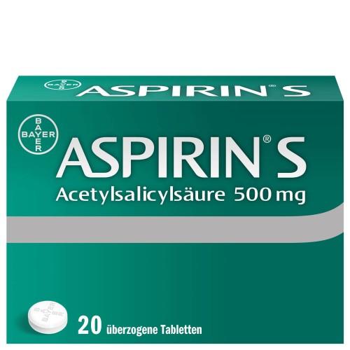 ASPIRIN S Tabl 500 mg 20 Stk