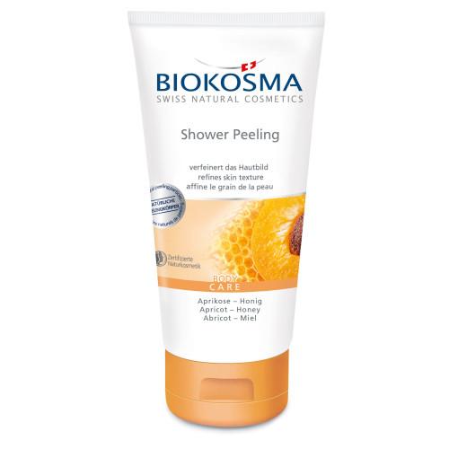 BIOKOSMA Shower Peeling Aprikose-Honig 150 ml