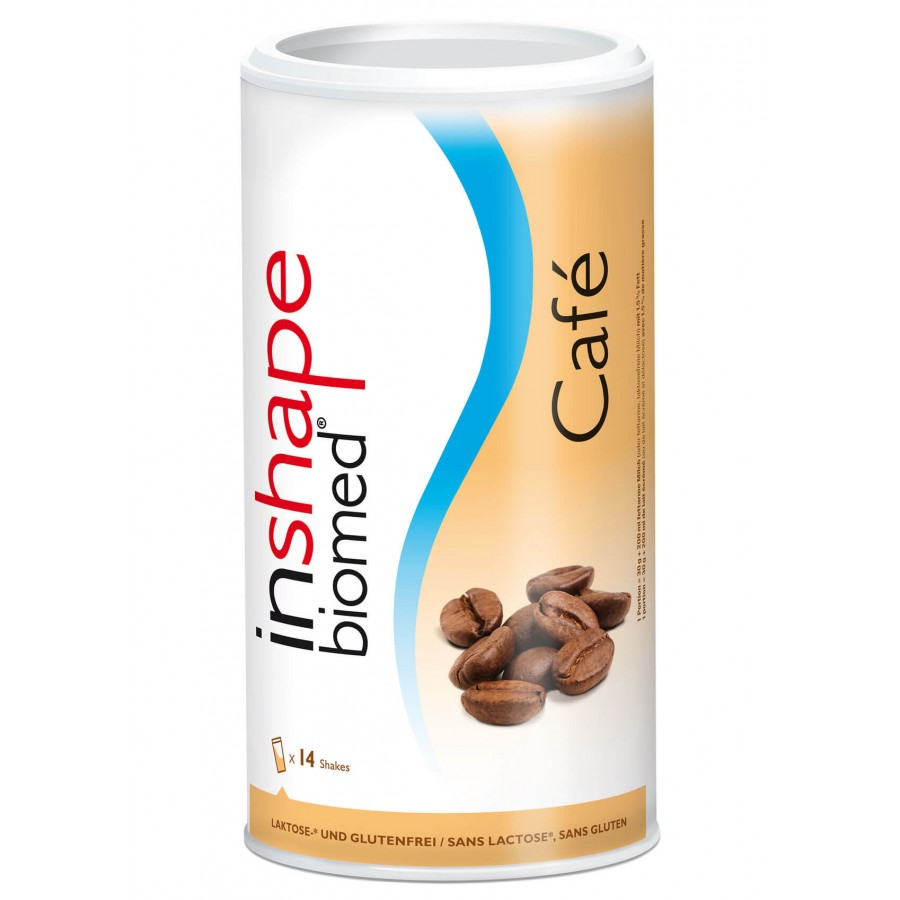 Hier sehen Sie den Artikel INSHAPE Biomed Plv Café Ds 420 g aus der Kategorie Schlankheitsnahrung. Dieser Artikel ist erhältlich bei unseredrogerie.ch