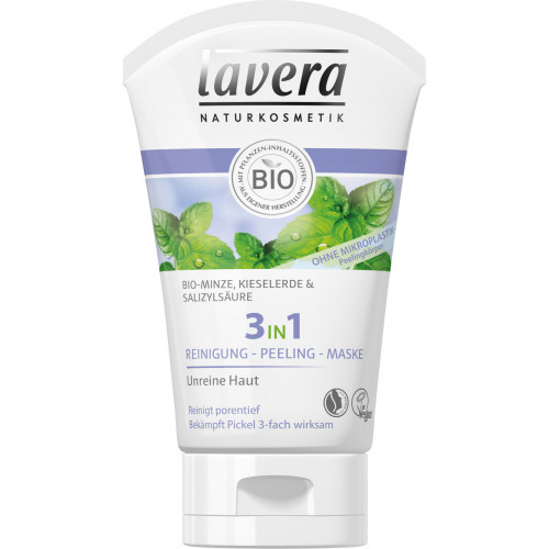 LAVERA 3in1 Reinigung Peeling Maske 125 ml