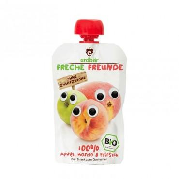 FRECHE FREUNDE Quetschm Apf Man&Pfir alt 100 g