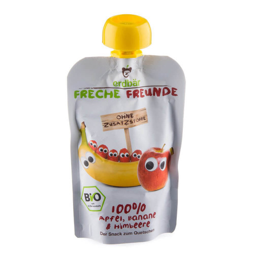 FRECHE FREUNDE Quetschmus Apfel Banane&Himbe 100 g