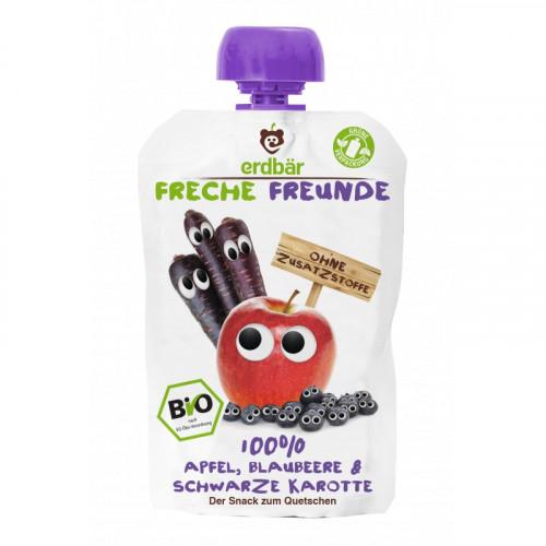 FRECHE FREUNDE Quetschmus Apfel Blaub&Karott 100 g