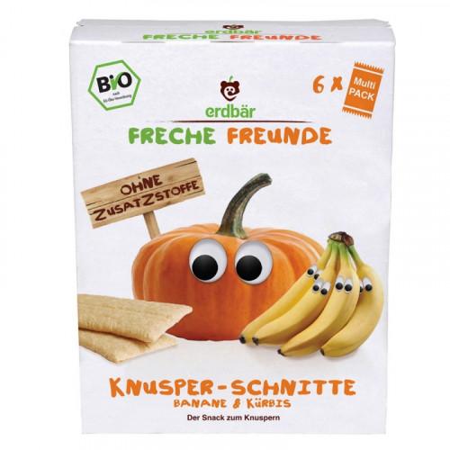 FRECHE FREUNDE Knusper-Schnitte Banane&Kürbis 84 g