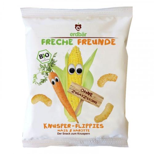 FRECHE FREUNDE Knusper-Flippies Mais&Karotte 25 g