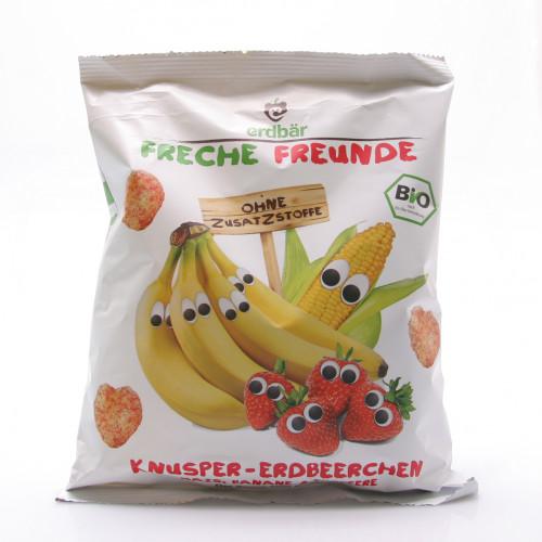 FRECHE FREUNDE Knusper-Erdbeere Mais,Banane&Erdbeere 25 g