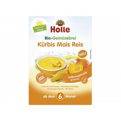 HOLLE Bio-Gemüsebrei Kürbis Mais Reis 175 g