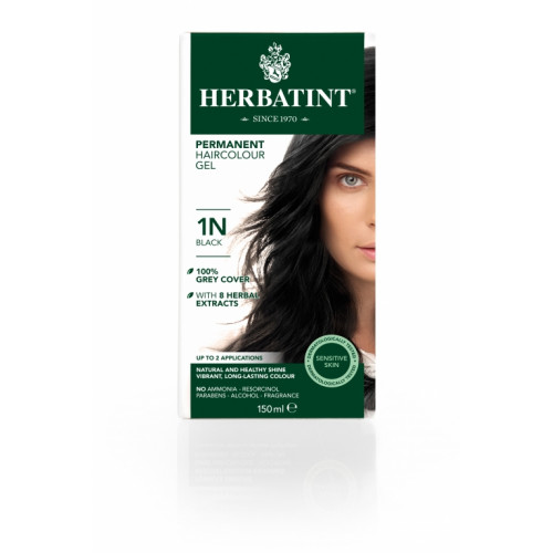 HERBATINT Haarfärbegel 1N Schwarz 150 ml