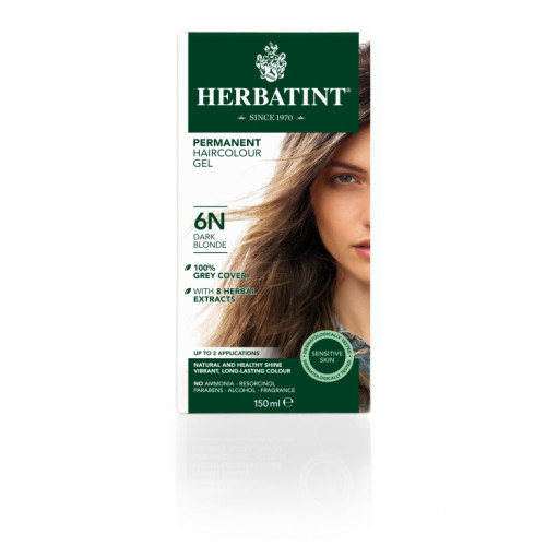 HERBATINT Haarfärbegel 6N Dunkelblond 150 ml