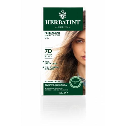 HERBATINT Haarfärbegel 7D Goldblond 150 ml