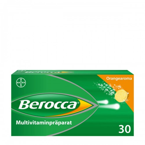BEROCCA Brausetabl Orangenaroma 30 Stk