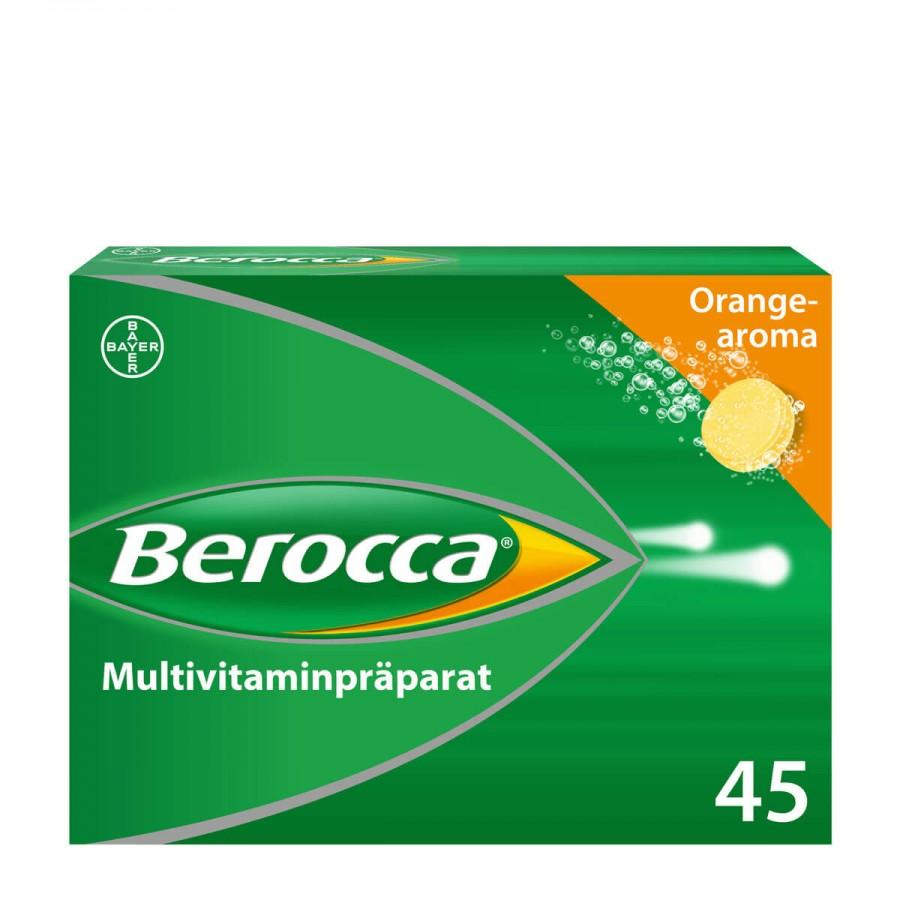 Hier sehen Sie den Artikel BEROCCA Brausetabl orange 45 Stk aus der Kategorie Medikamente der Liste D. Dieser Artikel ist erhältlich bei unseredrogerie.ch