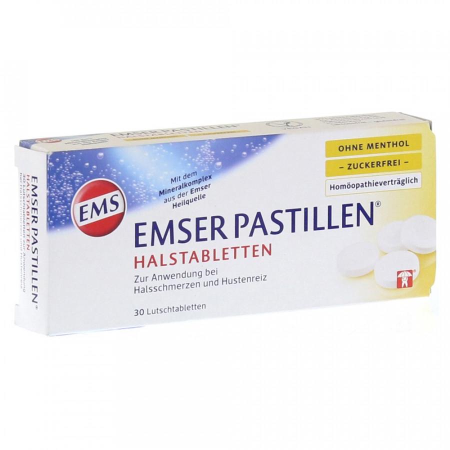 Hier sehen Sie den Artikel EMSER Pastillen zuckerfrei ohne Menthol 30 Stk aus der Kategorie Andere Spezialitäten. Dieser Artikel ist erhältlich bei unseredrogerie.ch