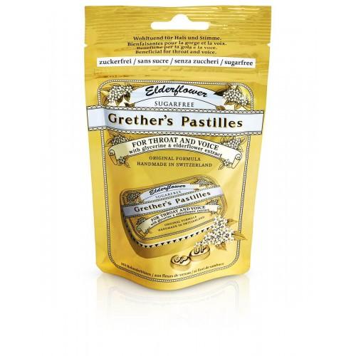 GRETHERS Elderflower Past ohne Zucker refill Beutel 100 g