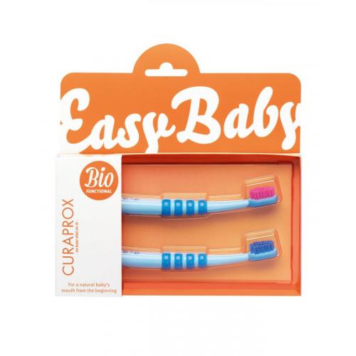 CURAPROX Baby Zahnbürste blau Doppelpack alt 2 Stk