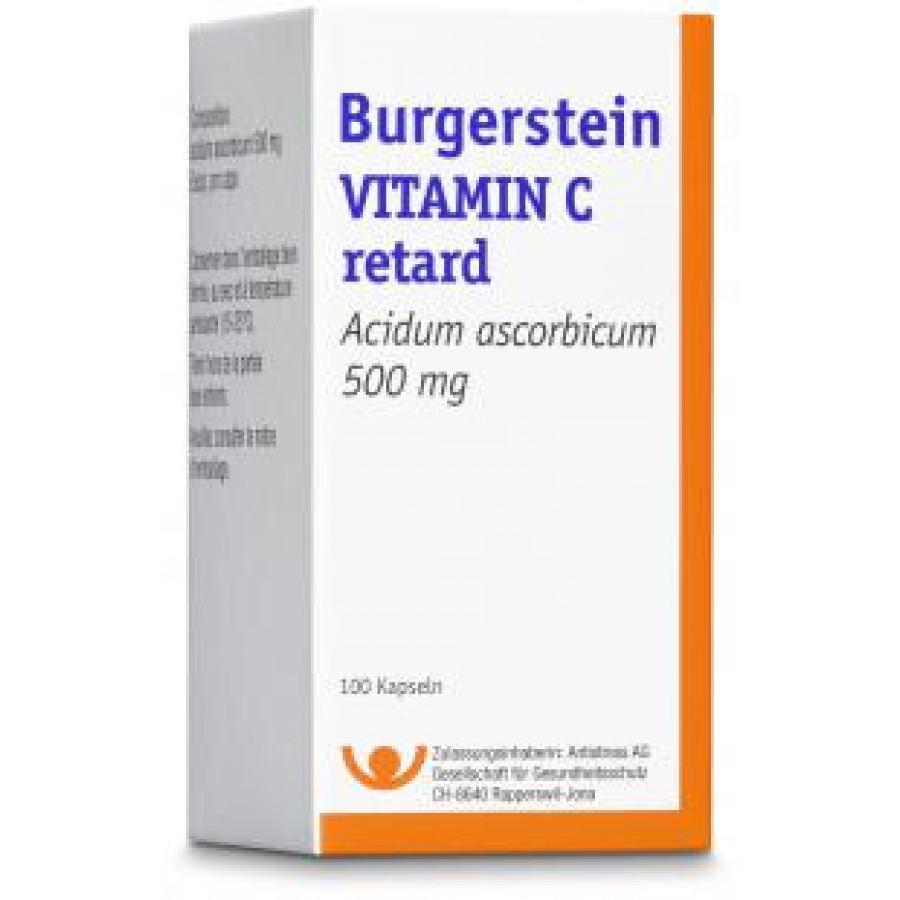 Hier sehen Sie den Artikel BURGERSTEIN Vitamin C Ret Kaps 500 mg 100 Stk aus der Kategorie Medikamente der Liste D. Dieser Artikel ist erhältlich bei apothekedrogerie.ch