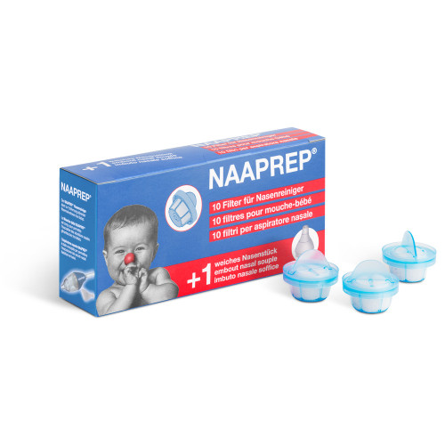 NAAPREP Filter Nasenreiniger 10 Stk + 1 Nasenstkück