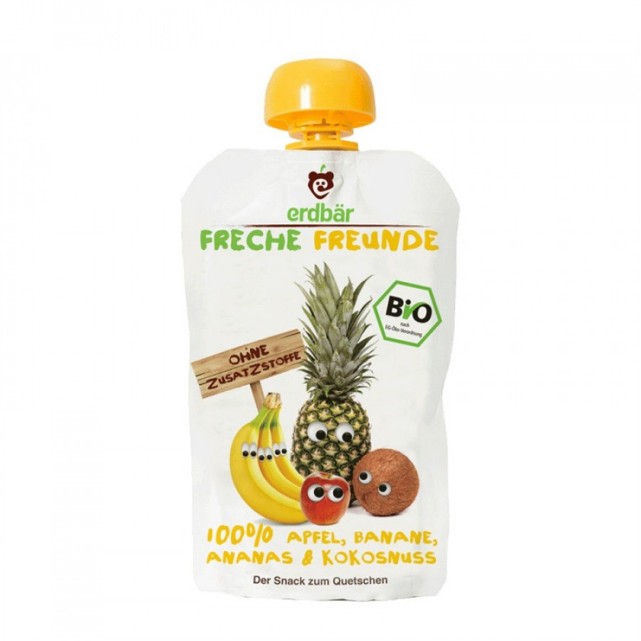 Hier sehen Sie den Artikel FRECHE FREUNDE Quetschmus Apf Ban Ana&Kokos 100 g aus der Kategorie Frucht- und Gemüsesäfte/Sirupe und Zubehör. Dieser Artikel ist erhältlich bei unseredrogerie.ch