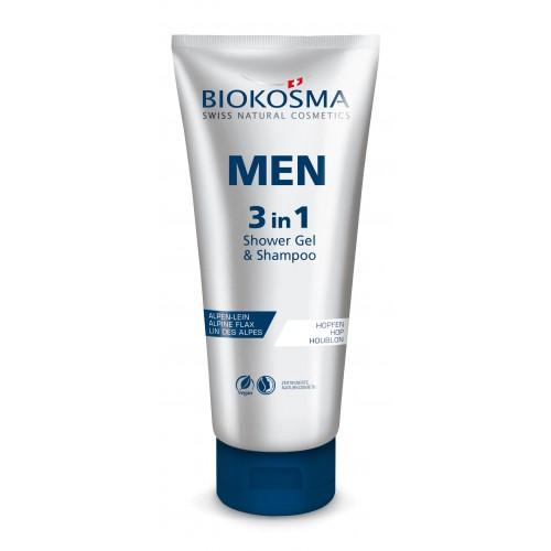 BIOKOSMA Men 3 in1 Shampoo & Showergel Tb 200 ml