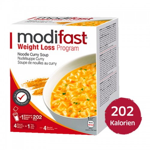 MODIFAST Programm Nudelsuppe Curry 4 x 55 g