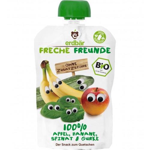 FRECHE FREUNDE Quetschmus Apf Bana Spi&Gurke 100 g