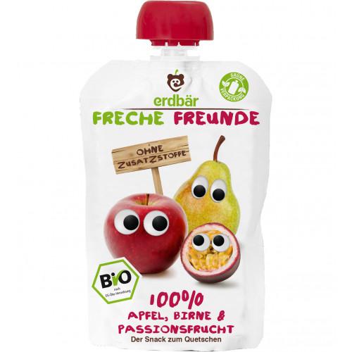 FRECHE FREUNDE Quetschmus Apf Birne&Passion 200 ml