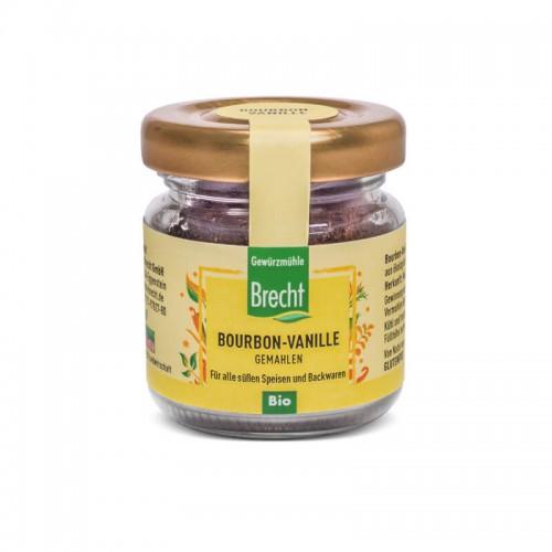 BRECHT Bourbon-Vanille gemahlen Bio Glas 15 g