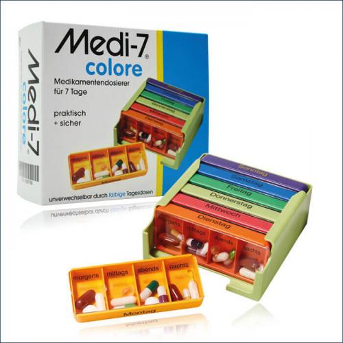 MEDI-7 Medikamentendosierer 7 Tage D/F/I colore