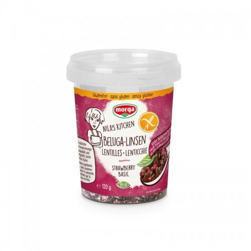 MORGA Beluga-Linsen Erdb/Basil glutenfr Bio 120 g