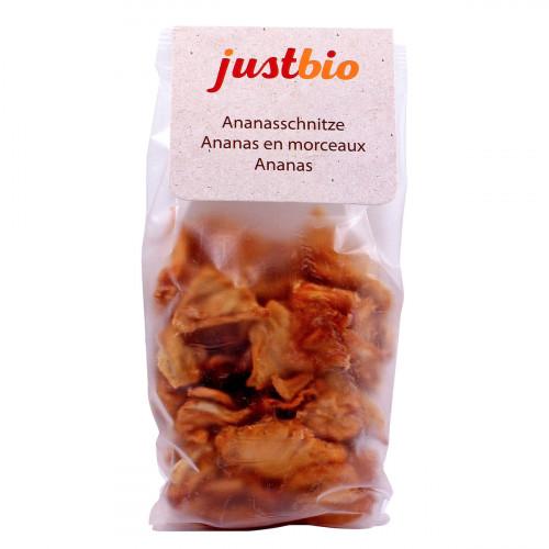 JUSTBIO Ananasschnitze 150 g