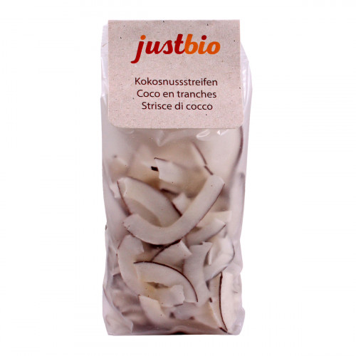 JUSTBIO Kokosnussstreifen Btl 150 g