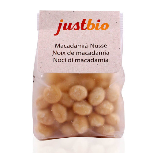JUSTBIO Macadamia Nüsse Btl 150 g