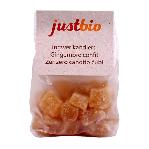 JUSTBIO Ingwer kandiert Btl 150 g