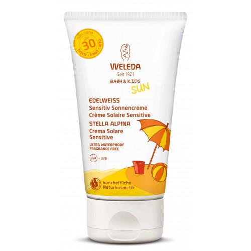 WELEDA EDELWEISS Sensitiv Sonnencreme LSF30 150 ml