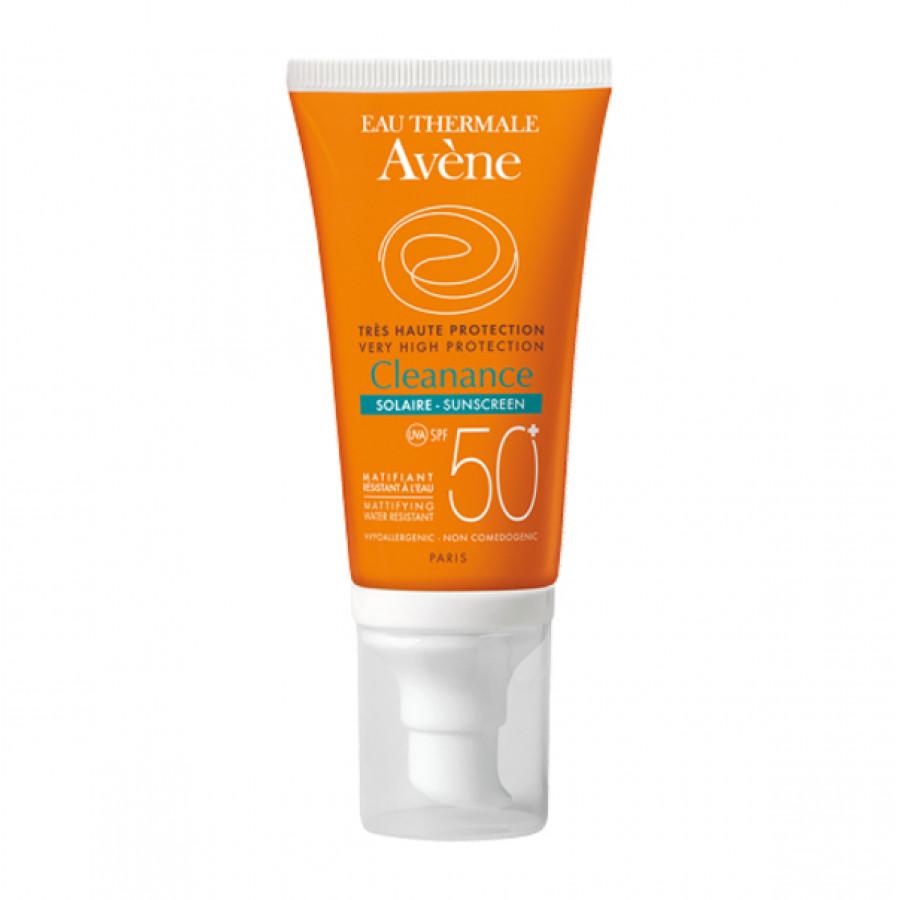 Hier sehen Sie den Artikel AVENE SUN Cleanance Sonne SPF50+ 50 ml aus der Kategorie Sonnenschutz. Dieser Artikel ist erhältlich bei apothekedrogerie.ch