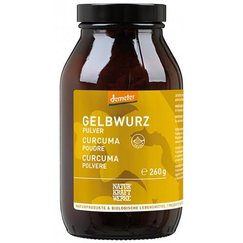 NATURKRAFTWERKE Gelbwurz Pulver Demeter 260 g