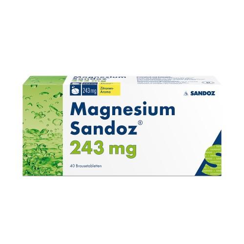 MAGNESIUM Sandoz Brausetabl 243 mg Ds 40 Stk