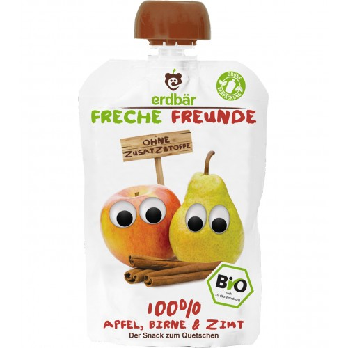 FRECHE FREUNDE Quetschmus Apfel Birne&Zimt 100 g