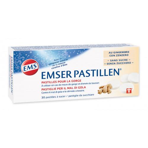 EMSER Pastillen zuckerfrei mit Ingwer 30 Stk
