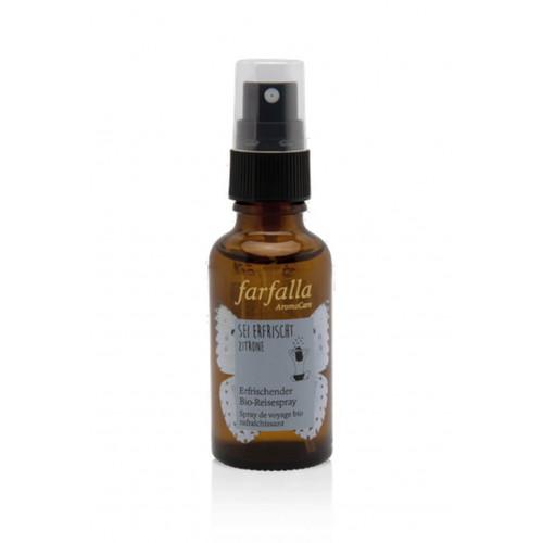 FARFALLA Bio-Reisespray sei erfrischt Zitron 30 ml