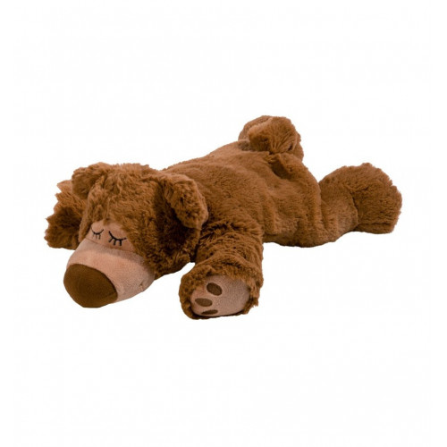 WARMIES Minis Wärme-Stofftier Bär dunkelbraun