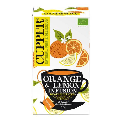 CUPPER Orange & Zitrone Früchtetee Bio Btl 20 Stk