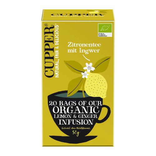CUPPER Zitronentee mit Ingwer Bio 20 Stk
