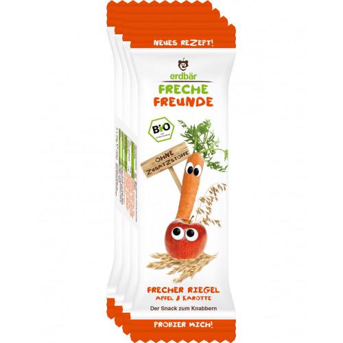FRECHE FREUNDE Getreideriegel Apfel Karotte 4 x 23 g