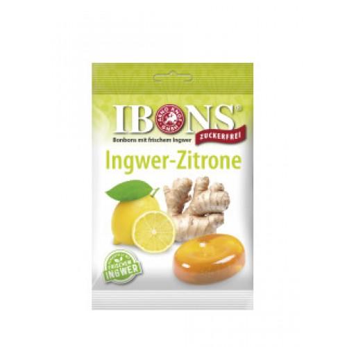 IBONS Ingwer Bonbon Zitrone ohne Zucker Btl 75 g