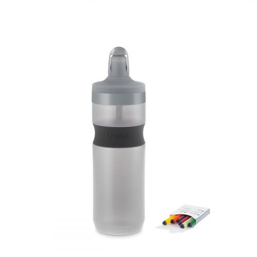 NUAPUA Sportflasche STONE 0.65l inkl 6 Flavorkaps